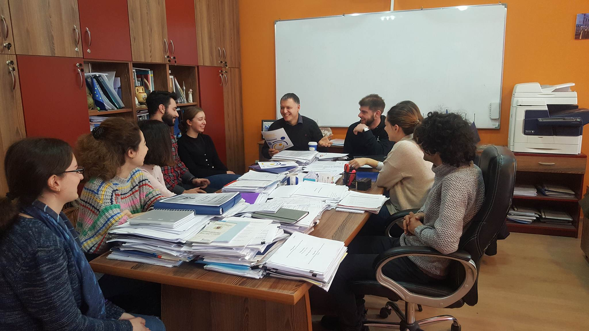 The Meeting of Prof. George Pkhakadze with students of DTMU